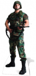 US Soldier - Lifesize Star Cutout
